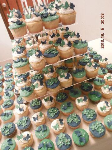 Cupcakes Para Xv A 241 Os En Azul Y Esmeralda Cupcake By Jana